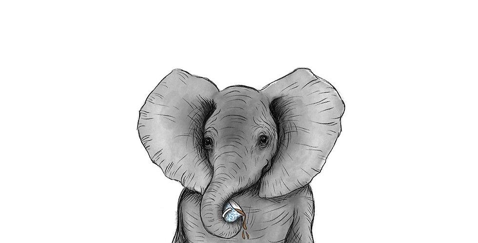 Elephant A3 print