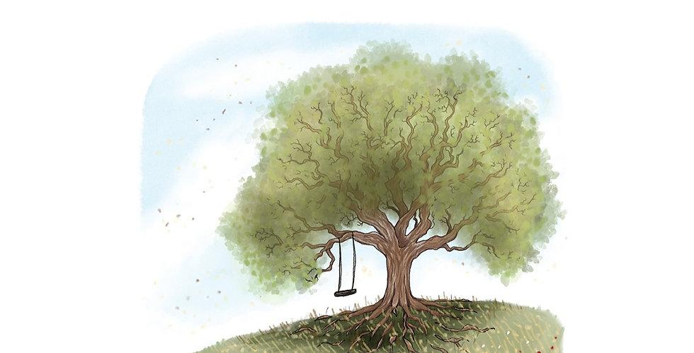 Nettlefold Oak Tree - Summer A3 print
