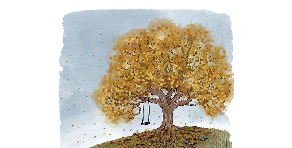 Nettlefold Oak Tree - Autumn A3 print