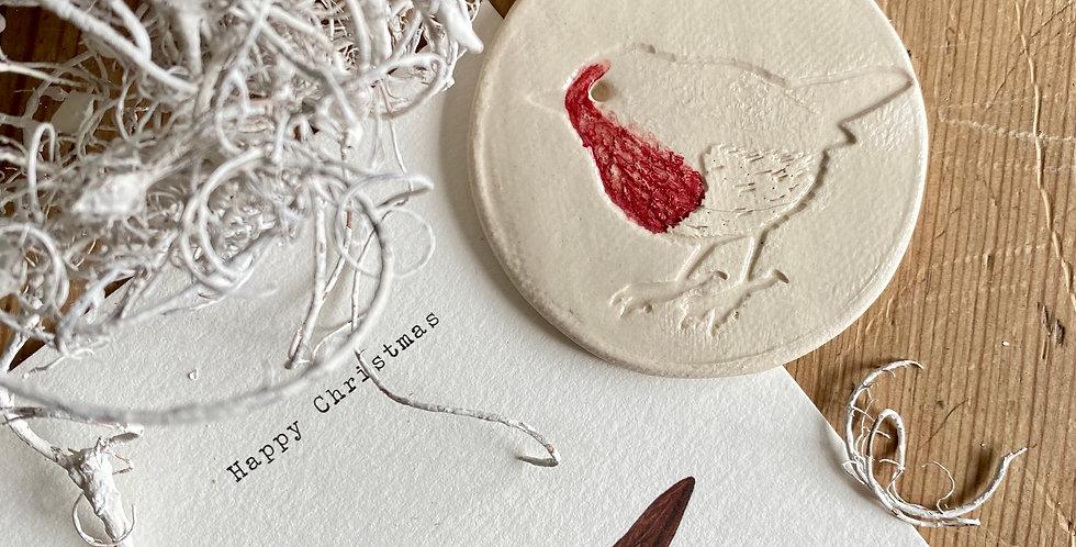 Handmade Robin decoration