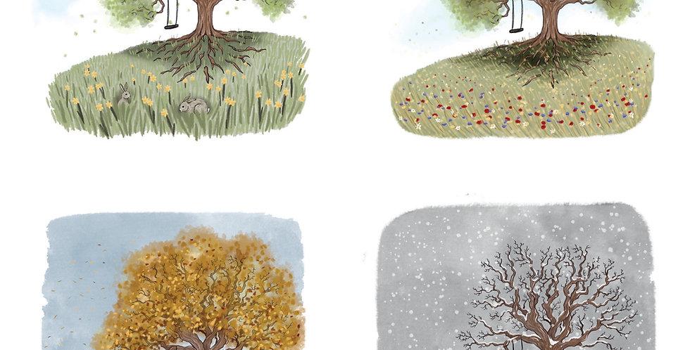Nettlefold Oak Tree - The Collection A3 prints