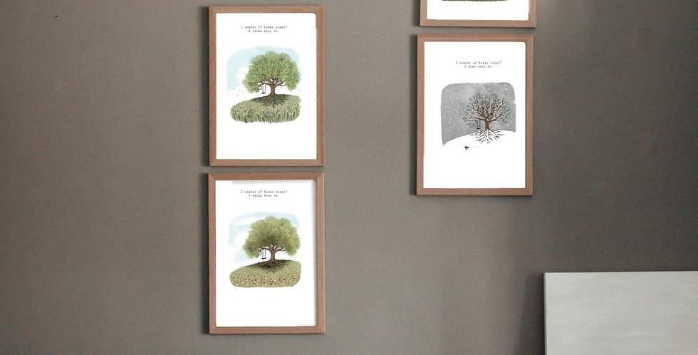 A3 PRINT - TREE COLLECTION