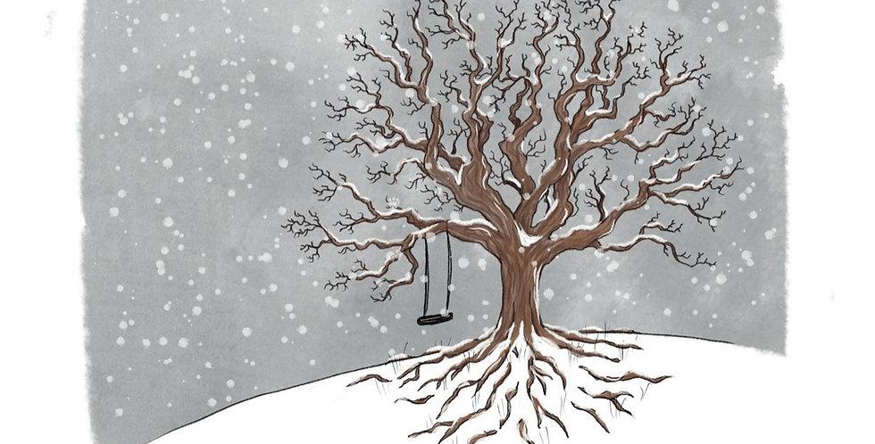 Nettlefold Oak Tree - Winter card pack