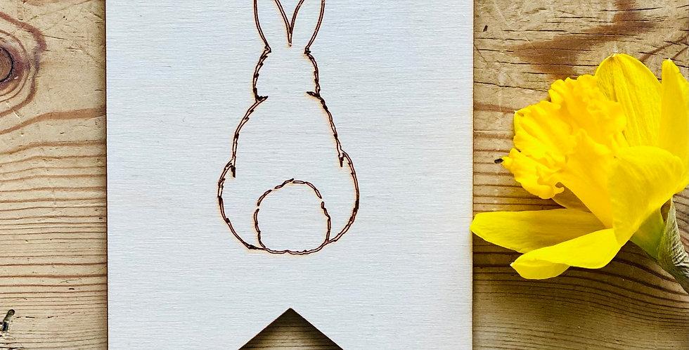 Wooden Bunny flag