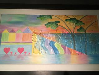 NEW - Mixed Media, Canvas & Glass Fusion