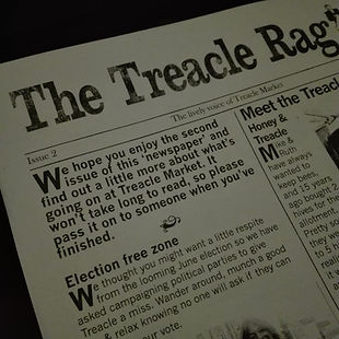 our shop featured in the treacle market publication, the treacle rag