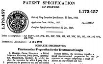 patent for the famous Hadfield rum cough elixir
