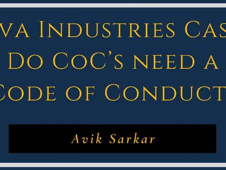 Siva Industries Case: Do CoC's need a Code of Conduct?