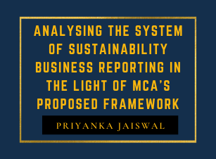 Analysing the System of Sustainability Business Reporting in the light of MCA's Proposed Framework