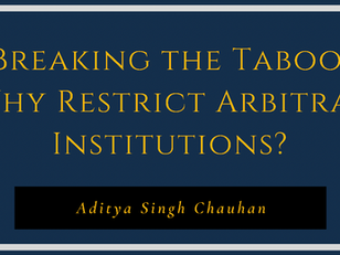 Breaking the Taboo: Why Restrict Arbitral Institutions?