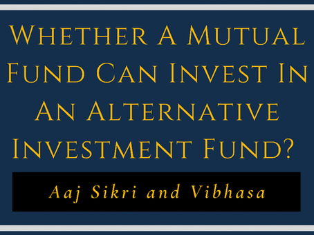 Whether a Mutual Fund can Invest in an Alternative Investment Fund?