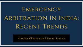 Emergency Arbitration in India: Recent Trends