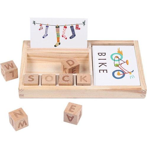 Wood Spelling Words Game