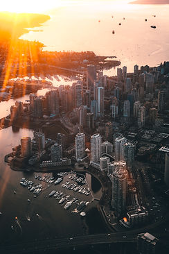 bird-s-eye-view-of-city-during-sunset-20