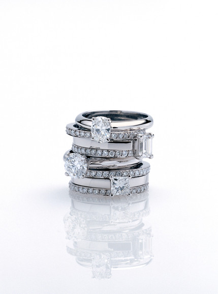 Parev Jewellery Diamond Ring Stack