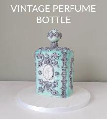 Vintage Perfume Bottle Cake