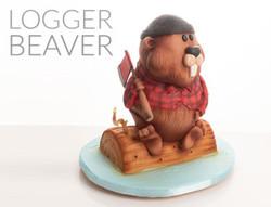 Logger Beaver Cake