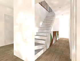 Réaménagement partiel d'une maison à Angers.