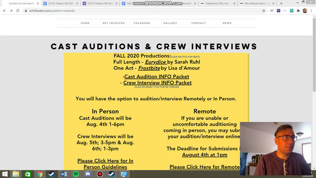 Audition Information