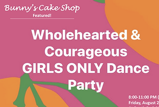 Bunny's Cakes at Wholehearted and Courgeous girls' dance party