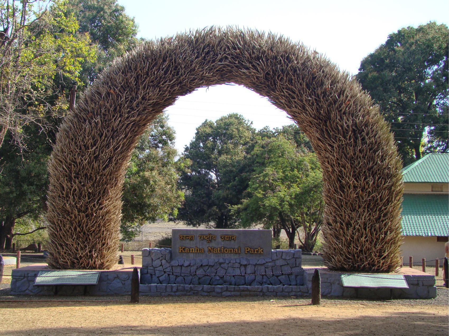 Kanha National Park Entrance - Created from shedded deer horns