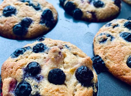 Paleo Blueberry Nectarine Muffins