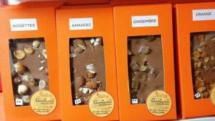 Tablette Chocolat au Lait 38% Oranges