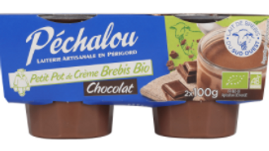Petit Pot crème  Brebis Bio Chocolat