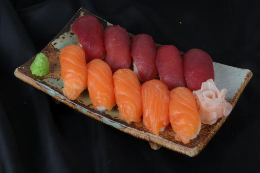 Assortiment sushi thon saumon