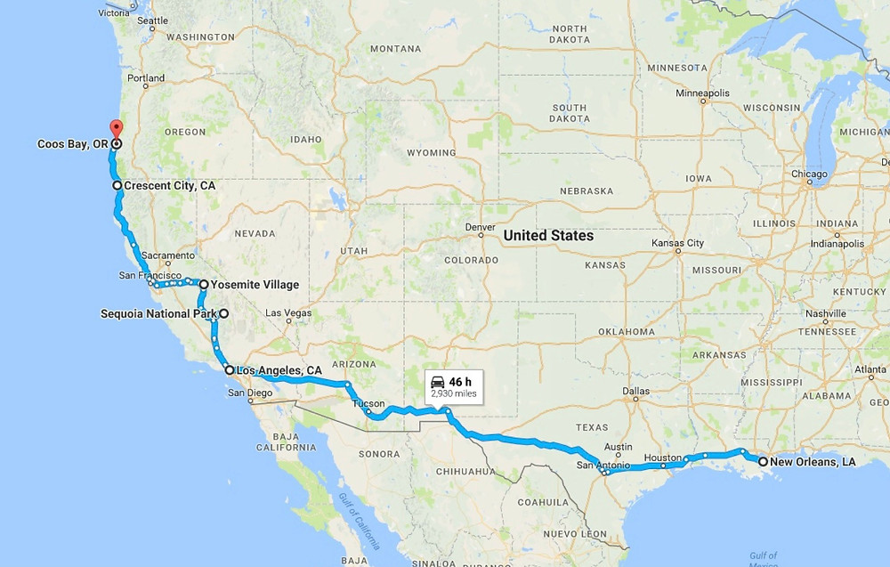 USA To Go map