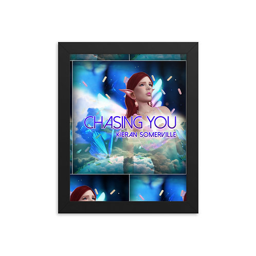 Chasing You Framed photo paper poster