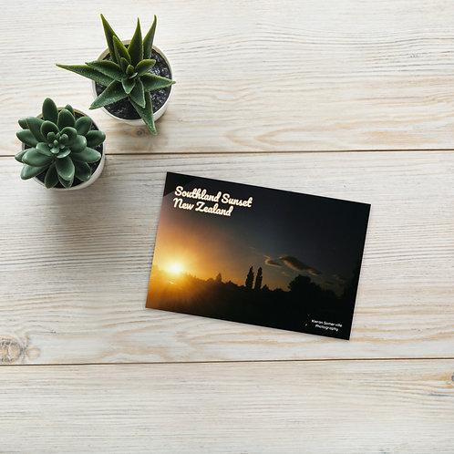 Southland Sunset Standard Postcard