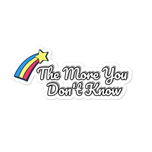 Don't Know Meme Bubble-free stickers