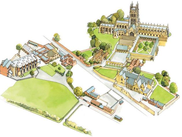Kings School, Glos, Plan