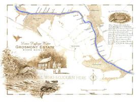 Grosmont, R. Monnow Fishing Map