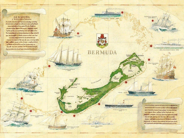 Bermuda Wrecks Map