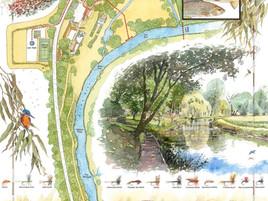 Teasel, Wiltshire Avon Fishing Map