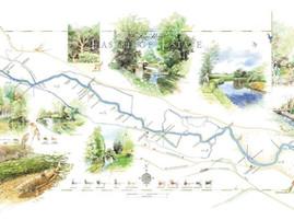 Eastridge, River Kennet Fishing Map