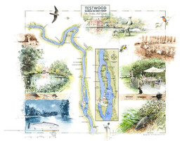 Testwood, River Test Fishing Map