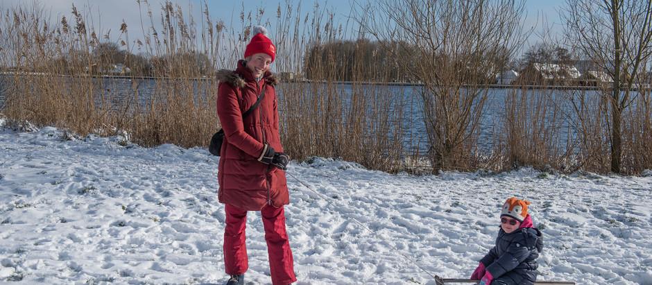 Winterpret in de Merenwijk