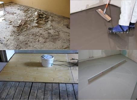 Как подготовить основание для укладки напольного покрытия