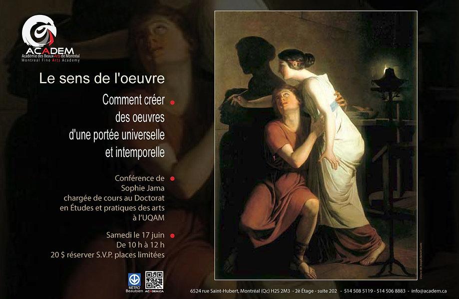 Les événements de l'Academie des Beaux-Arts de Montréal