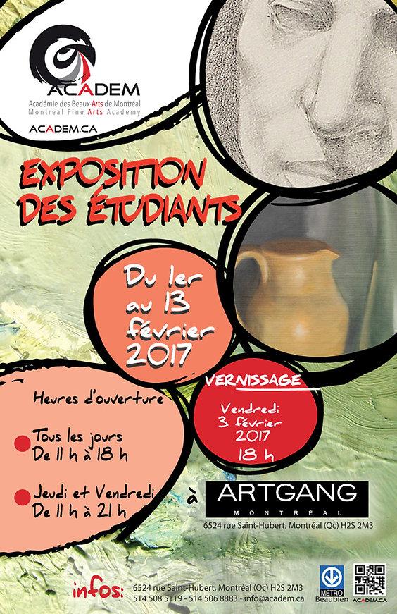 EXPOSITION DES ÉTUDIANTS 2017 / ACADEM