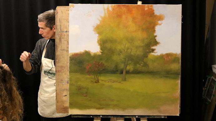 Peindre le feuillage d'automne à l'huile