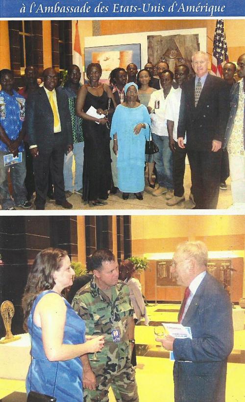 Exposition à l'ambassade des USA