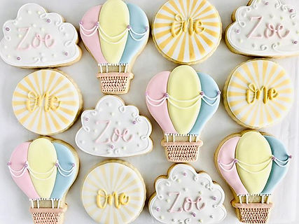 Hot air balloon cookies I made for this