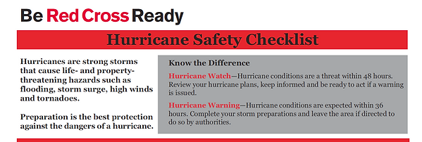 be red cross ready for hurricane florida
