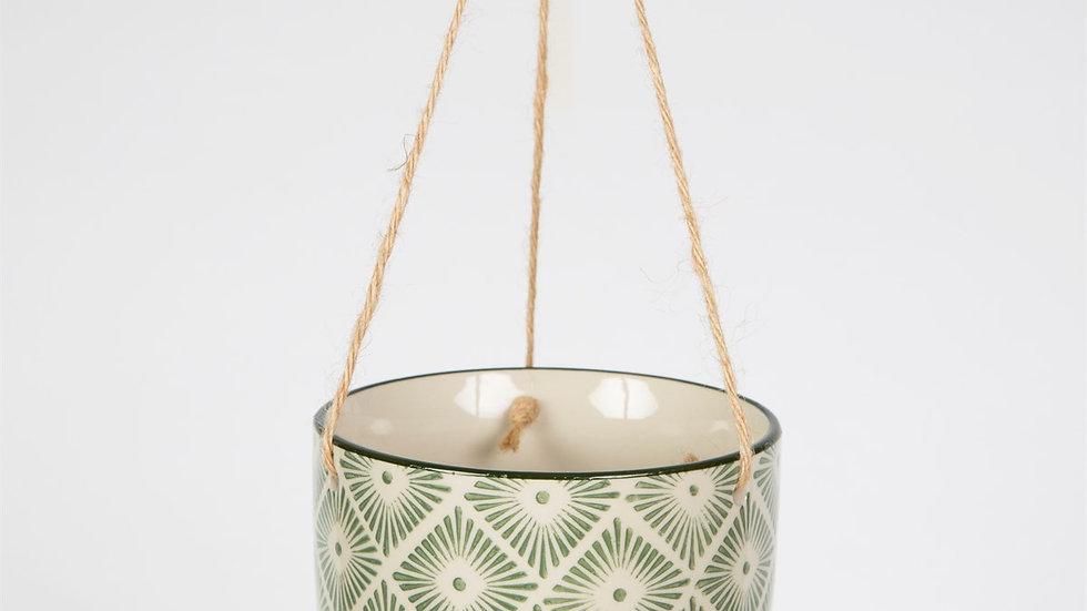 Sass & Belle Ria Hanging basket - green
