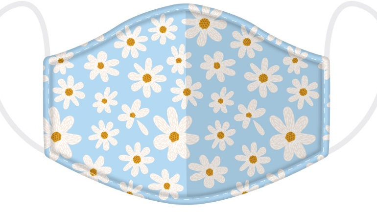 Adult Daisy Face Covering - washable