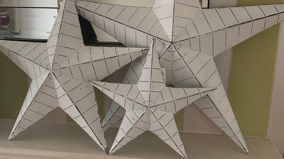 Large white barn star 74cm